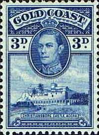 Gold Coast 1938 SG 124 Christianborg Castle Fine Mint SG 124 Scott 119  Other Ghana Stamps HERE