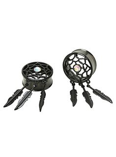 Steel Black Dreamcatcher Plug 2 Pack | Hot Topic