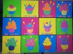 Verjaardagskalender cupcakes.