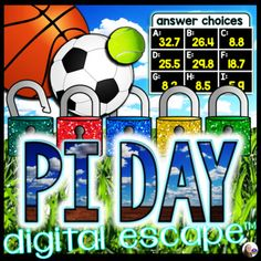 An engaging digital escape room for middle school students celebrating Pi Day! In this escape room activity, students work with the circle formulas to unlock 5 locks. Questions are grouped 4 per puzzle, resulting in five 4-letter codes that will unlock all 5 locks. Each puzzle also includes a fun fa... Student Data, Student Work, Facts About Pi, Circle Formula, Math Word Walls, Math Words, 7th Grade Math, Pi Day, Escape Room