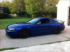 WOW this car is my dream ride. So brilliant New Edge Mustang, 2000 Ford Mustang, Ford Mustang Classic, Blue Mustang, Ford Mustang Shelby Gt500, Mustang Cobra, Ford Gt, Ford Mustangs, Car Paint Colors