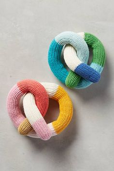 Anthropologie Pretzel Rattles // For the new baby Little People, Little Ones, Origami, Whimsical Fashion, Knitted Dolls, Crochet Toys, Nursery Inspiration, Modern Prints, Hand Knitting