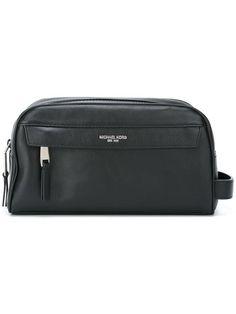 MICHAEL KORS zipped medium wash bag. #michaelkors #bags #leather #