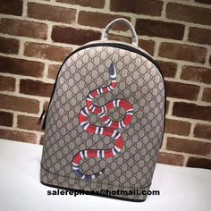 56a0eb404cc Beige ebony GG Supreme canvas with Angry Cat print