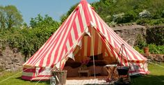 I want this circus tent!  (No idea where I'd use it in NYC...my roof?)  via The Glam Camping Company