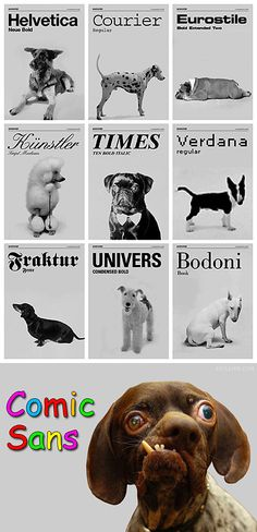If Fonts were dogs ...