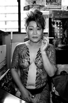 Here you will mainly find irezumi, some mma, but mostly things related to Japanese traditional tattoo culture and history (all material belongs to the respective artists and will be removed on request). Full Body Tattoo, Body Art Tattoos, Girl Tattoos, Tattoos For Women, Female Tattoos, Tattooed Women, Yakuza Tattoo, I Tattoo, Chest Tattoo