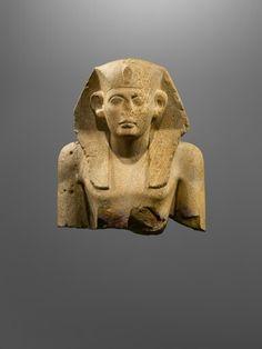 Quartzite monumental bust of King Sesostris. Middle Kingdom. 12th dynasty. | Phoenix Ancient Art Gallery