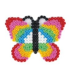 Hama Bead Pegboard for Midi Hama Beads. These template shapes are great for Hama Bead designs & expand the creative opportunities for this excellent craft with different midi peg board shapes. Perler Beads, Perler Bead Art, Fuse Beads, Melt Beads Patterns, Beading Patterns, Plastic Fou, Modele Pixel Art, Beading For Kids, Hama Beads Design