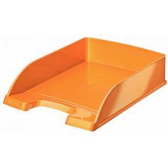 Leitz WOW Briefkorb Plus 5 Stück A4 orange metallic Polystyrol LE2303 52263044