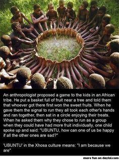 Example for our world leader! UBUNTU!