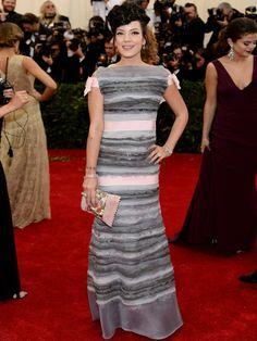 AFP - AFP / Agência.  Lily Allen  A cantora usou um longo Chanel Couture.