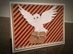 Hedwig Birthday Card  (Harry Potter Gryffindor) by ModTrove