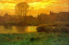 """""""Spring Sunset,"""" Charles Warren Eaton, 1893, oil on canvas, 24 x 36"""", private collection."""