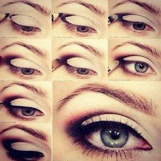Simple how to eye make up