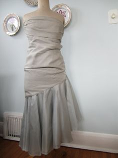 Vintage 1980s Mermaid Style Party Dress by Vigan on Etsy, $68.00