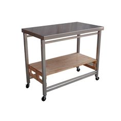 Oasis concepts extra large stainless steel folding kitchen island