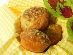 Muffins salés au parmesan et aux graines de tournesol, sans gluten Sans Gluten Vegan, Brunch, Tapas, Parmesan, Baked Potato, Baking, Breakfast, Healthy, Diane