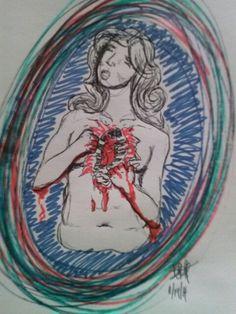 Bleed out sketch by ashley lynn thompson