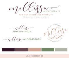 Melissa Jane Portraits Ready Made Logo | Sarah Made Design Co