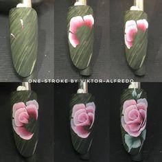 53 trendy nails art flores one stroke Rüya Tabirleri Uñas One Stroke, One Stroke Nails, One Stroke Painting, Rose Nail Art, Rose Nails, Flower Nails, Nail Art Designs Videos, Nail Designs, Art Deco Nails