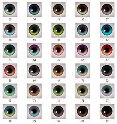 Mod The Sims - Maxis-Match eyeset add-ons II - 30 new colors (custom, gen, town)