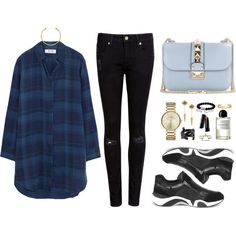 Untitled #190 by imyeni on Polyvore featuring MiH Jeans, Ted Baker, Ash, Valentino, Tiffany & Co., David Yurman, IaM by Ileana Makri, Marc by Marc Jacobs, Yves Saint Laurent and OBEY Clothing