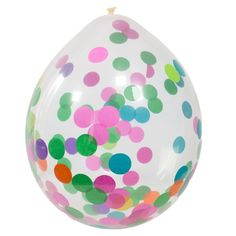 Konfettiballonger - Flerfarget - 4 stk   Stilige konfettiballonger Ballongen er helt klar med fargerik konfetti på innsiden Ballongene måler ca. 30cm ferdig oppblåst Det er 4 stk. ballonger med konfetti i hver pakke   #Ballongermedmønster