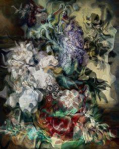 Macabre Still Life 2 #macabre #surreal #stilllife #flowers #rijkmuseum #moody #dark #warped...