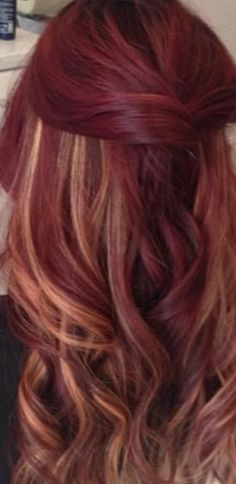 Love the red & blonde!