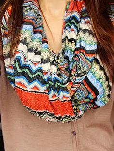 aztec scarf  #WhatYaWearinWednesday