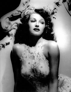 Rita Hayworth. I am so in love with her dress.