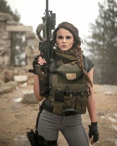 Sexy and Hot Military Girl – Army Women Airsoft, Military Guns, Female Soldier, Army Soldier, Warrior Girl, Military Women, Big Guns, N Girls, Army Girls