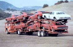 dukes of hazzard general lee dodge charger car carrier Junkyard Cars, Dukes Of Hazard, Dodge Charger Rt, General Lee, Car Carrier, American Muscle Cars, Good Ol, Behind The Scenes, Monster Trucks