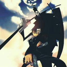 Soul Eater - Kid the one that looks human. Kid wants everything to be symmetrical and is insane if not. He's smart, quite, and very powerful. He's Lord Death son, the dude with the hole reaper look. Lord death is funny, very very strong and mighty.