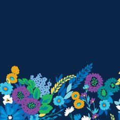 Dress your tech: Midnight Blues Tablet Wallpaper   Vera Bradley