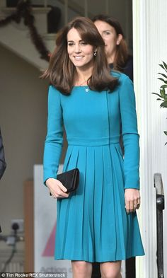 Kate looked radiant as she made her way through the centre in a vibrant Emilia Wickstead dress she has worn before