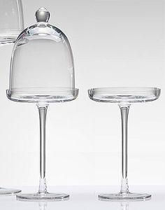 Cloche a gateaux en verre