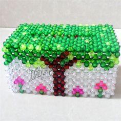 3D beadwork artwork Napkin Paper handkerchief Facial Tissue/ Tissue Container