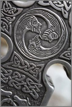 detail of Celtic cross