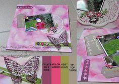 "Page photo technique Bokeh et thinlits ""Papillons"" Stampin'Up!"
