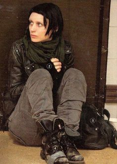 Lisbeth Salander! Character from 'The Girl with the Dragon Tattoo' series by Stieg Larsson.