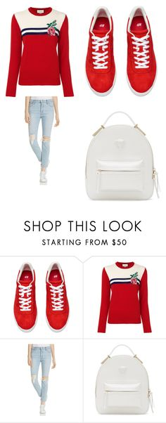 """""""Untitled #2252"""" by alessiaaaaaaaaa ❤ liked on Polyvore featuring Gucci, Mother and Versace"""