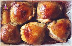 Ama in bucatarie: Pulpe de pui in marinata de miere si sos de soia Pretzel Bites, Recipies, Food And Drink, Bread, Dishes, Cooking, Projects, Salads, Recipes
