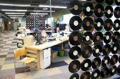 vinyl record room dividers