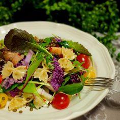 紫白菜とレンズ豆のチキンサラダパスタ/picchin | SnapDish[スナップディッシュ] (ID:aD4Hra)