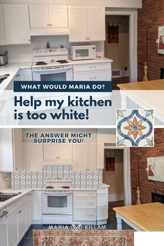 However, we can fix this with just the right pattern on the backsplash. And the charm it adds would make much more sense with the warm rustic brick. This also brings the feel of the brand new white kitchen in line with it. If you make a colour mistake, just start decorating. White Kitchen Decor, White Kitchen Cabinets, White Kitchens, Building A New Home, Better Homes And Gardens, White Paints, Home Renovation, House Colors, Backsplash