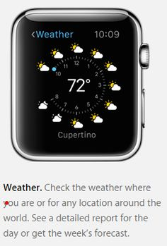Apple Watch view: weather app
