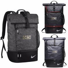 3be4a0fe96 Nike® Sport Backpack - Lightweight and durable construction. Fold-over top  with buckle closure. Large capacity main compartment with magazine sleeve.