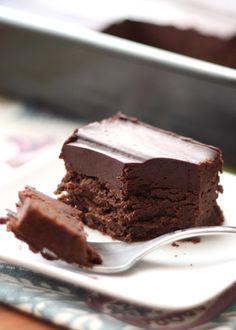 Cold Chocolate Snacking Cake recipe by Barefeet In The Kitchen